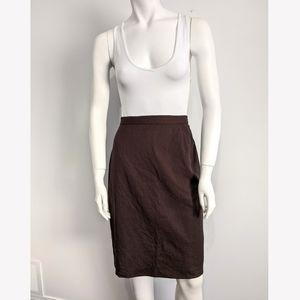 Vintage Escada Wool blend brown pencil skirt